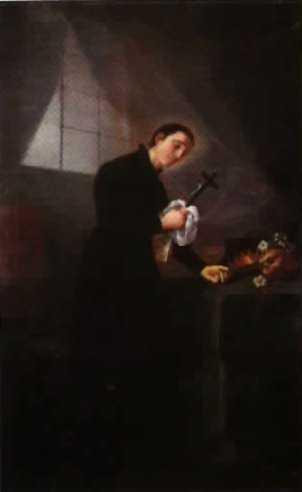 San Luis Gonzaga pintado por Goya