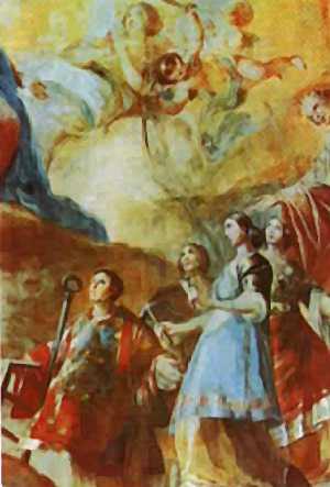 Boceto Cupula Reina de los Mártires