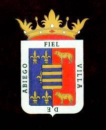 Escudo heráldico municipal de Abiego