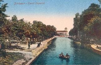 Canal Imperial de Aragón a su paso por Torrero